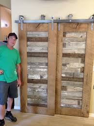 Sliding Doors Barn by Reclaimed Oak And Pabst Blue Ribbon Factory Floor Bypass Sliding
