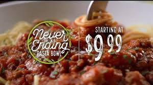 Olive Garden Never Ending Pasta Bowl Is Back - olive garden never ending pasta bowl tv commercial it s back