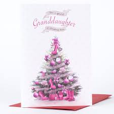 christmas card special granddaughter only 99p