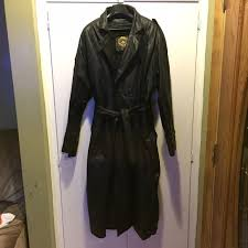 zara vintage men u0027s leather trench coat from brianna u0027s closet