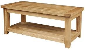 Solid Oak Coffee Table Blackbridge Furnishings Limited Kincraig Large Solid Rustic Oak
