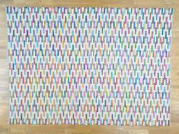 Cotton Flat Weave Rug 10 U0027x14 U0027 Cotton And Sari Silk Flat Weave Kilim Hand Woven Oriental