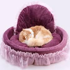 Washable Dog Beds Pink Princess Lace Dog Bed Soft Sofa Luxury Washable Dog Kennel