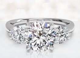 real stone rings images 3 stone real diamond rings wedding promise diamond engagement jpg