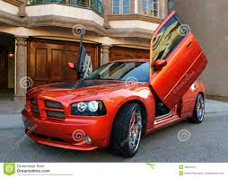 voiture de sport voiture de sport américaine rouge photo libre de droits image