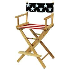 Patio Furniture For Big And Tall by Furniture Superb Tall Directors Chair With American Flag Cover