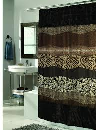 Animal Print Bathroom Ideas Animal Print Shower Curtain Set Soozone