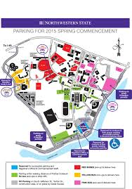 Wright State University Campus Map by Northwestern State U2014 Commencement Parking Map Available