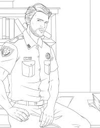 amazon com men in uniform coloring book 9781682611319