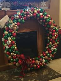 Large Outdoor Christmas Ornaments by Large Outdoor Christmas Wreath With Lights Simple Outdoor Com