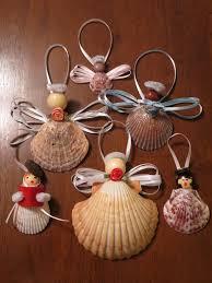 festive seashell caroler and ornaments treasures and