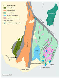 Madagascar Map A New Deposit Of Gem Quality Grandidierite In Madagascar Gems