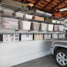 garage shelving ideas garage storage shelves the container store platinum elfa utility wall mounted garage