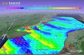 Wind Speed Map Boost Technologies Sar Wind Google Earth Overlay