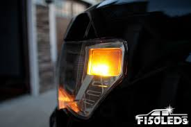 Ford Raptor Yellow - 2010 14 f150 raptor front marker led lights f150leds com