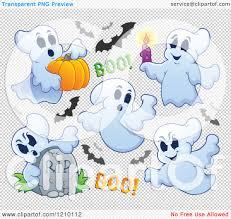 free halloween clip art transparent background cartoon of halloween ghosts and bats royalty free vector clipart