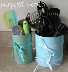 blue kitchen canisters purplest pecalin diy kitchen canisters