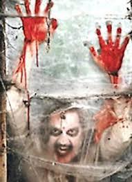 bloody zombie window backdrop banner walking dead party halloween