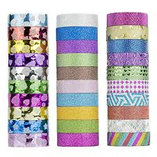 washi tape designs glitter washi tape set of 30 rolls made of cute designs japanese
