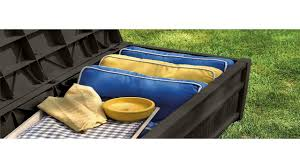 suncast db5500j 50 gallon deck box with seat youtube