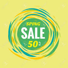 circle layout vector spring sale discount 50 off creative vector banner special