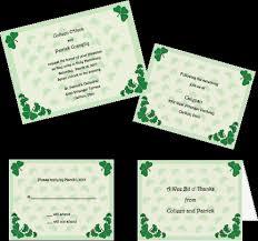 celtic theme wedding invitations