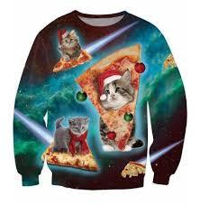 3d sweater 3d cat pizza sweater cameow