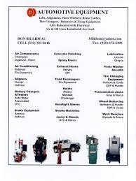 automotive equipment services