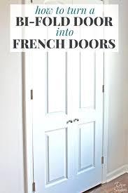 Closet Folding Doors Lowes Bifold Closet Door Turn Your Bi Fold Door Into Doors With