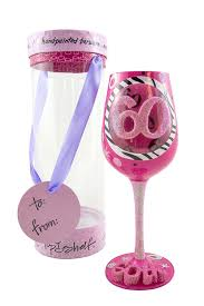 happy birthday margarita glass amazon com top shelf 60th birthday wine glass hand painted