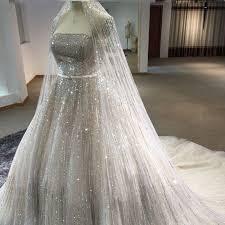 silver wedding dress real photo luxury gorgeous wedding dress with veil
