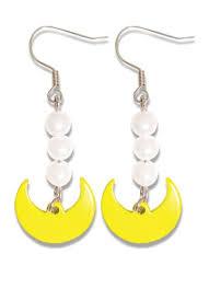 sailor moon sailor moon crescent moon earrings
