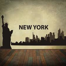 aliexpress com buy new york city skyline silhouette the big aliexpress com buy new york city skyline silhouette the big apple wall stickers vinyl wall art decal home decoration wall decor mural 13