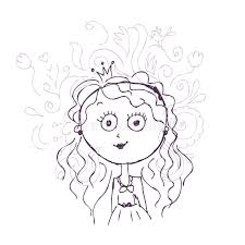 funny little princess sketch for your design stock vector image