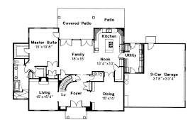 traditional 2 story house plans colonial house plan kearney 30 062 1st floor plan house