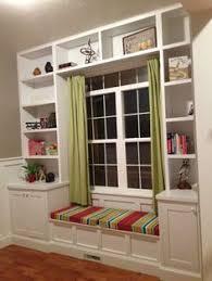 Bookcase Bench Diy Built In Bookshelves Window Seat Building Plans Window