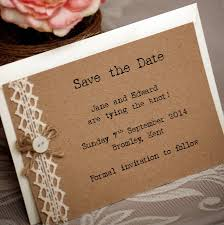 country vintage style save the date postcard by vintage twee