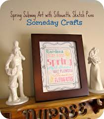 spring sketch pen subway art by someday crafts silhouette sketch