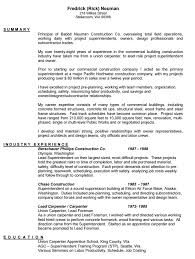 Construction Sample Resume by 10 Carpenter Resume Templates Free Pdf Samples