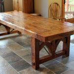distressed wood dining table table decoration ideas