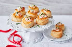 canape recipes salmon vol au vents tesco food