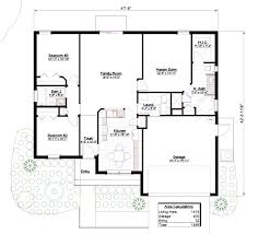 Floor Plans With Dimensions Model 1413 U2013 3 Br 2 Ba Southern Integrity Enterprises Inc