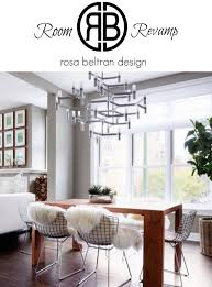 rosa beltran design room revamp clean and cozy dining room