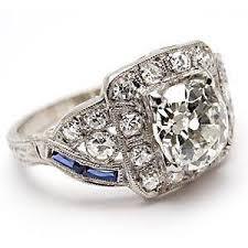 mine cut engagement ring deco antique mine cut engagement ring w sapp