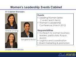 Cabinet Responsibilities Duke Awib The Duke Mba Association Of Women In Business 6 8