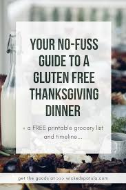 your no fuss guide to a gluten free thanksgiving dinner with