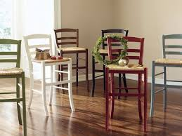 stanley countertop stools with wood seat and metal legs for