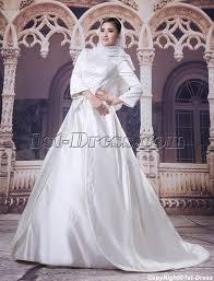 wedding dress muslimah 3 4 sleeves embroidery muslim bridal gowns 1st dress