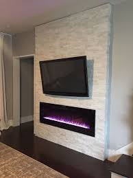Modern Electric Fireplace Endearing Modern Fireplace Wall Hanging On The Wall And Wall Mount