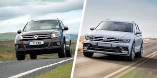old volkswagen volvo volkswagen tiguan old vs new compared carwow